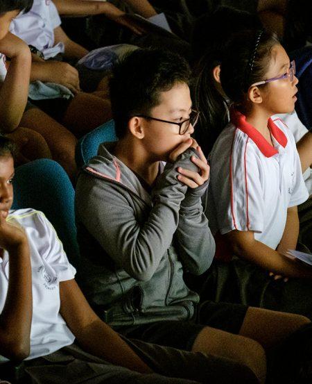 Students at Xinmin Secondary School