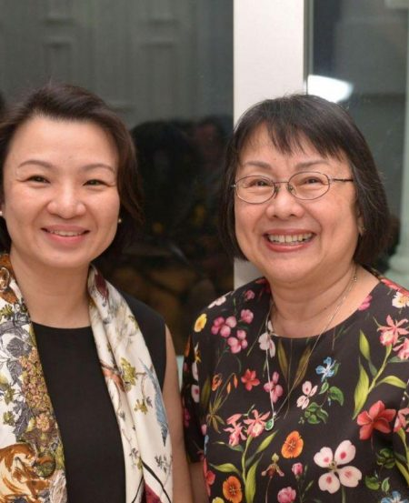 SSO Senior Manager for Programming Kua Li Leng with Dr Margaret Chen, former SSO Ladies' League member and Artistic Director for VCH Organ series