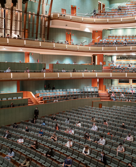 A full house at the Esplanade Concert Hall.