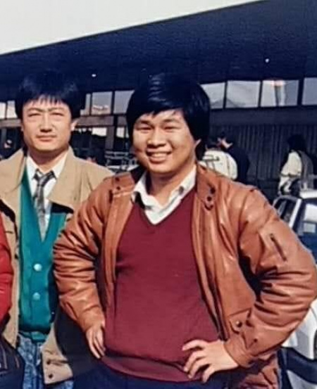 Mr Han (far right) in January 1988 during the SSO European tour with former SSO musicians.