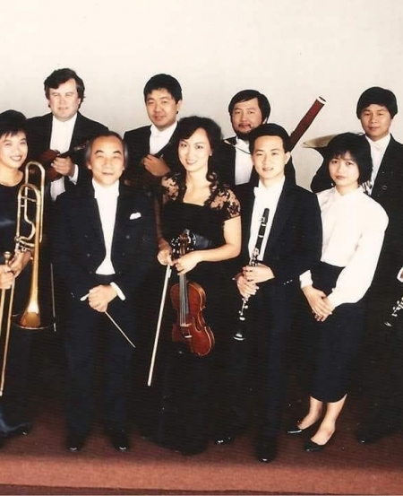 In 1989, SSO founding music director and conductor Choo Hoey brought some SSO members (Mr Han is at far right, back row) to Fukuoka, Japan to perform with the local Japanese orchestra.