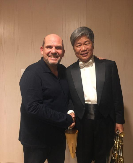 With conductor Jaap Van Sweden, also in a performance of Mahler's Sixth Symphony in Shanghai.