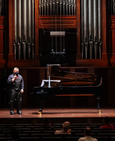 A familiar personality in the Singapore music scene, Nicholas Loh's past solo recitals include the Singapore Piano Festival Young Virtuoso Series in 2009, the Esplanade Spectrum series in 2015 and the Esplanade Concourse Cool Classics in 2019.   [Photo credit: Nathaniel Lim]