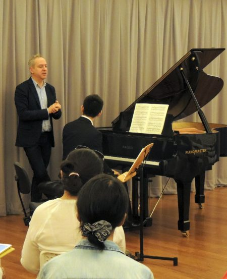 Jeremy Denk during his sold-out masterclass on 10 June in Singapore, as part of the Singapore International Piano Festival.