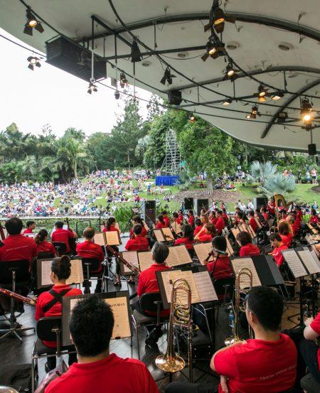 The orchestra at the SSO Mother's Day Concert in May 2018, Botanic Gardens. (Photo Credit: Chrisppics+)