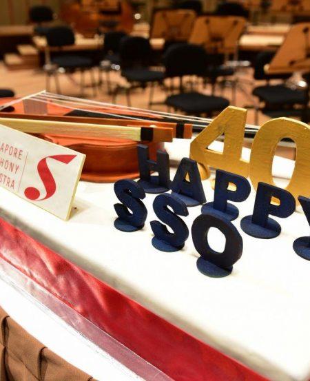 Celebrations made complete with a SSO40th birthday cake, courtesy of Conrad Centennial Singapore.