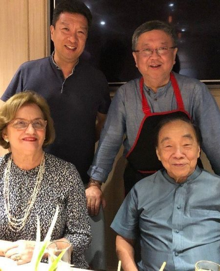 Clockwise from top left: SSO Principal Clarinet Ma Yue, former Principal Basson Zhang Jin Min, Choo Hoey and Mrs Alexandra Choo