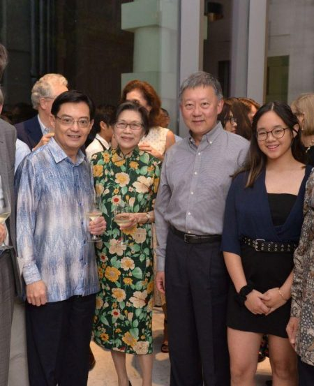 L-R: French Ambassador to Singapore Marc Abensour, Deputy Prime Minister Heng Swee Keat, guest of honour Professor Chan Heng Chee, SSG Chairman Goh Yew Lin, Sara Goh, SSO Council Honorary Chairman Cham Tao Soon
