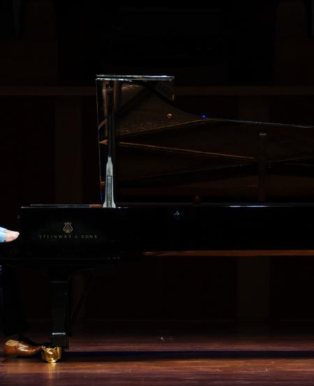 Representing courage in progress, Seth Tan performed Prokofiev's Andante caloroso and Precipitato from Piano Sonata No. 7 in Bb major, Op. 83.