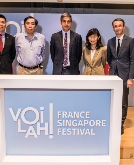 (From left) Chng Hak-Peng, CEO, Singapore Symphony Group; Professor Peter Ng, Director, Lee Kong Chian Natural History Museum; Ambassador of France to Singapore, H.E. Marc Abensour; Rosa Daniel, CEO, National Arts Council and Anthony Chaumuzeau, Counsellor for Culture, Education and Science.