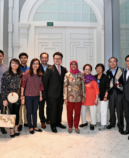 President Halimah met with Kevin's family, the SSO team, and guests Heng Swee Keat, Deputy Prime Minister, and Baey Yam Keng, Senior Parliamentary Secretary for Culture, Community and Youth.