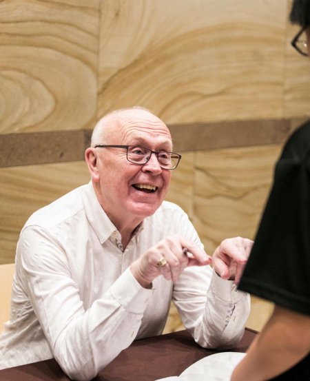 Peter Stark at an autograph session during the SNYO Elgar Cello Concerto in Nov 2019